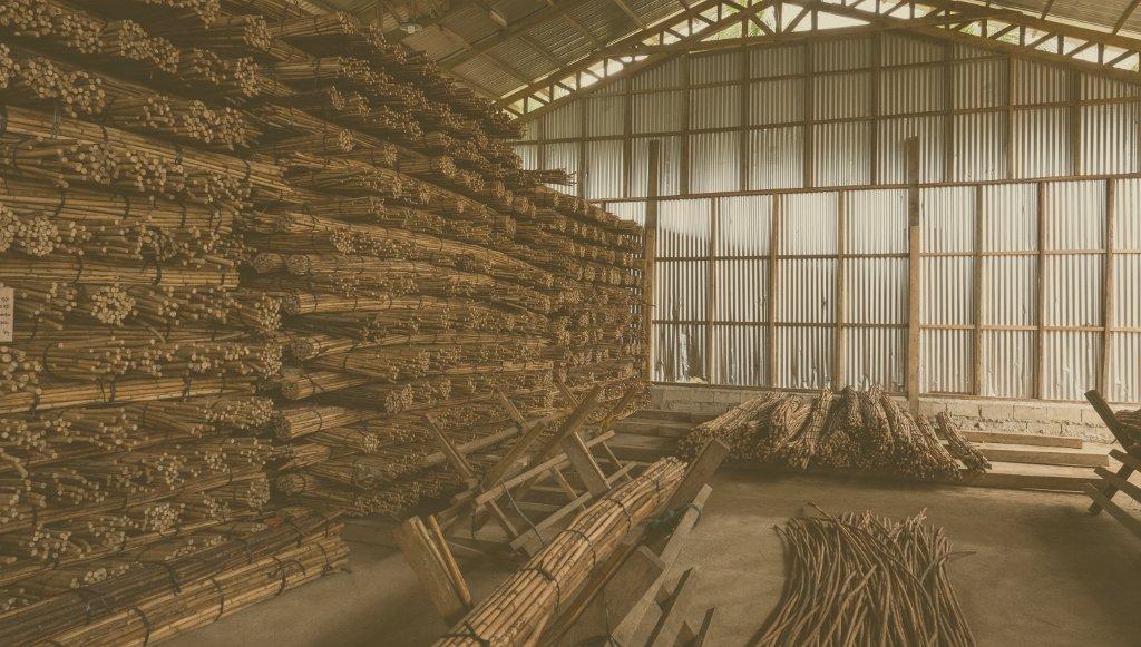 entrepôt de bâton en rotin